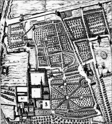 Plano del Palacio del Buen Retiro. Texeira (1656)
