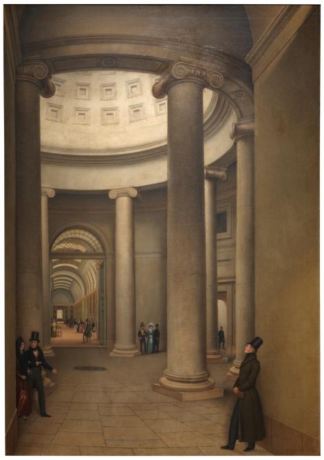 La rotonda del Museo del Prado, Pedro Kuntz y Valentini, 1833.(P03117)