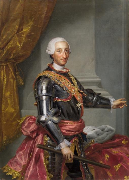 Fig. 3. P02200. Carlos III, Anton Rafael Mengs, 1765.© Museo Nacional del Prado.